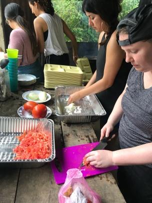 Dish washing and food preparation